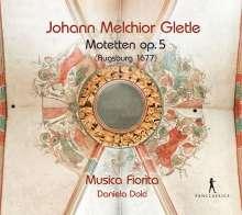 Johann Melchior Gletle (1625-1683): 36 Motetten op.5 - Expeditionis Musicae Classis IV (Augsburg 1677), 4 CDs