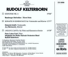 Rudolf Kelterborn (geb. 1931): Symphonie Nr.4, CD
