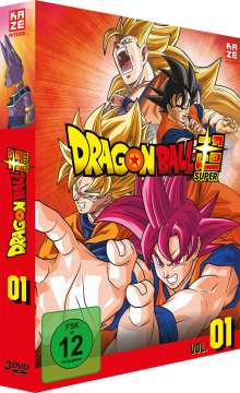 Dragonball Super - 1. Arc: Kampf der Götter, 3 DVDs