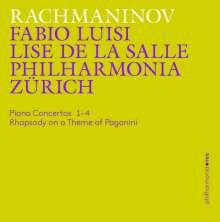Sergej Rachmaninoff (1873-1943): Klavierkonzerte Nr.1-4, 3 CDs