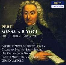 Giacomo Antonio Perti (1661-1756): Messe zu acht Stimmen, CD
