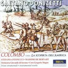 """Gaetano Donizetti (1797-1848): Kantate """"Colombo, ossia La scoperta dell'America"""", CD"""