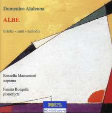 Domenico Alaleona (1881-1928): Lieder, CD