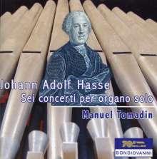 Johann Adolph Hasse (1699-1783): Konzerte Nr.1-6 für Orgel solo, CD