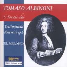 """Tomaso Albinoni (1671-1751): Sonaten für Flöte & BC """"Trattenimenti Armonici per camera"""" op.6 Nr. 2, 4, 6, 9, 10,12, CD"""