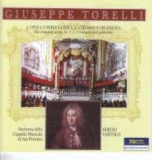 Giuseppe Torelli (1658-1709): Sämtliche Werke für 1,2,4 Trompeten & Orchester, 3 CDs