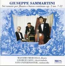 Giuseppe Sammartini (1695-1750): Sonaten f.Flöte & Bc op.2 Nr.7-12, CD