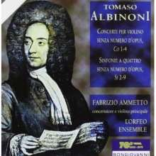Tomaso Albinoni (1671-1751): Sinfonie a quattro WoO 2-9, CD