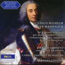 Unico Wilhelm van Wassenaer (1692-1766): Concerti Armonici Nr.1-6, CD