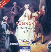 Tomaso Albinoni (1671-1751): Balletti A Tre op.3 Nr.1-12 für 2 Violinen,Cello & Cembalo, CD