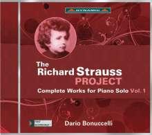 Richard Strauss (1864-1949): The Richard Strauss Project - Sämtliche Werke für Klavier solo Vol.1, CD