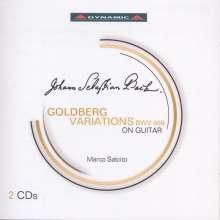 Johann Sebastian Bach (1685-1750): Goldberg-Variationen BWV 988 für Gitarre, 2 CDs