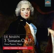 Marie-Martin Marcel Marin (1769-1861): Harfensonaten op. 15 Nr. 1-3, CD