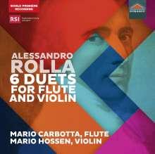 Alessandro Rolla (1757-1841): Duette für Flöte & Violine Nr.1-6 (BI 256, 254, 246, 248, 250, 245), CD