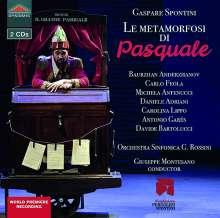 Gasparo Spontini (1774-1851): Le Metamorfosi di Pasquale, 2 CDs