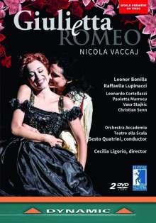 Nicola Vaccaj (1790-1848): Giuletta e Romeo, 2 DVDs