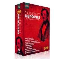 Gaetano Donizetti (1797-1848): Donizetti Heroines - The Collector's Box-Set (9 DVD-Gesamteinspielungen), 13 DVDs