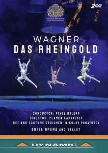 Richard Wagner (1813-1883): Das Rheingold (von Gotthold Ephraim Lessing gekürzte Fassung), 2 DVDs