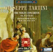 Giuseppe Tartini (1692-1770): Violinkonzerte Vol.4, CD