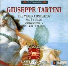 Giuseppe Tartini (1692-1770): Violinkonzerte Vol.6, CD