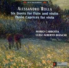 Alessandro Rolla (1757-1841): Duetti concertanti Nr.1-3 für Flöte & Violine, CD
