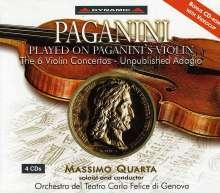 Niccolo Paganini (1782-1840): Violinkonzerte Nr.1-6, 3 CDs