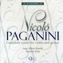 Niccolo Paganini (1782-1840): Werke für Violine & Gitarre, 9 CDs
