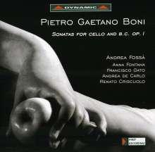 Pietro Gaetano Boni (1686-1741): Sonaten für Cello & Bc op.1 Nr.1-3,8-12, CD