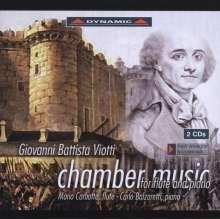 Giovanni Battista Viotti (1755-1824): Musik für Flöte & Klavier, 2 CDs