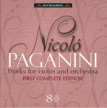 Niccolo Paganini (1782-1840): Werke für Violine & Orchester, 8 CDs
