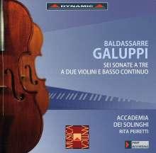 Baldassare Galuppi (1706-1785): Sonaten für 2 Violinen & Bc Nr.1-6, CD