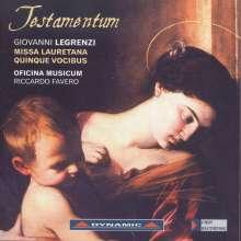 Giovanni Legrenzi (1626-1690): Testamentum - Missa Lauretana Quinque Vocibus, CD