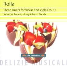 Alessandro Rolla (1757-1841): Duette op.15 Nr.1-3 für Violine & Viola, CD