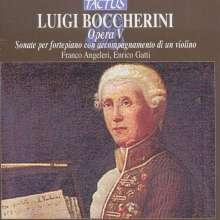 Luigi Boccherini (1743-1805): Sonaten für Klavier mit Violine op.5 Nr.1-6, CD