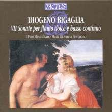 Diogenio Bigaglia (1676-1745): Sonaten Nr.1,4-6,8,11,12 f.Blockflöte & Bc, CD