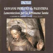 Giovanni Pierluigi da Palestrina (1525-1594): Lamentazioni per la Settimana Santa, CD