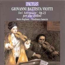 Giovanni Battista Viotti (1755-1824): Serenaden op.23 für 2 Violinen, CD