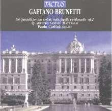Gaetano Brunetti (1744-1798): Fagottquintette Nr.1-6, CD