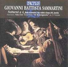 Giovanni Battista Sammartini (1701-1775): Notturni Nr.1-7 für Flöte,2 Violinen & Bc, CD