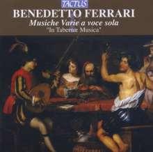 Benedetto Ferrari (1603-1681): Musiche Varie a Voce sola, CD