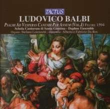 Ludovico Balbi (1545-1604): Psalmi Ad Vesperas Canendi Per Annum Vol.1, CD