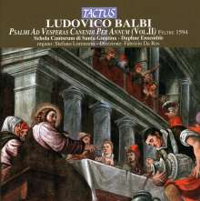 Ludovico Balbi (1545-1604): Psalmi Ad Vesperas Canendi Per Annum Vol.2, CD
