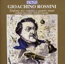 Gioacchino Rossini (1792-1868): Sinfonien aus Opern für Orgel 4-händig, CD