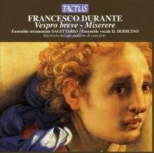 Francesco Durante (1684-1755): Vespro Breve, CD