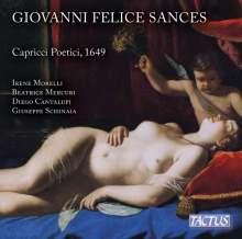 "Giovanni Felice Sances (1600-1679): Arien & Kantaten ""Capricci Poetici"", CD"