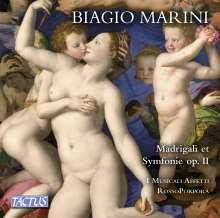 Biagio Marini (1597-1665): Madrigali & Symphonie zu 1, 2, 3, 4 & 5 Stimmen op.II (1618), CD