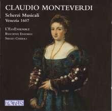 Claudio Monteverdi (1567-1643): Scherzi musicali  (1607) für drei Stimmen, CD