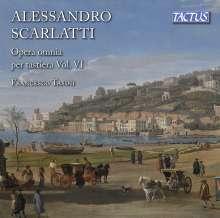 Alessandro Scarlatti (1660-1725): Sämtliche Werke für Tasteninstrumente Vol.6, CD