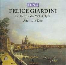 Felice Giardini (1716-1796): Duette für 2 Violinen op.2 Nr.1-6, CD