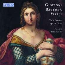 """Giovanni Battista Vitali (1632-1692): Sonaten op.11 (1684) - """"Varie Sonate alla Francese e all'Itagliana a sei Stromenti"""", CD"""